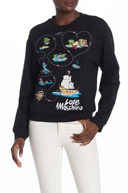LOVE Moschino Felpa Girocollo Map Pullover
