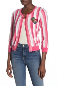 LOVE Moschino 3/4 Sleeve Stripe Cardigan