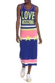 LOVE Moschino Vestito Stelle Star Logo Long Dress
