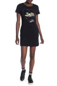 LOVE Moschino Vestito Cuore Map Dress