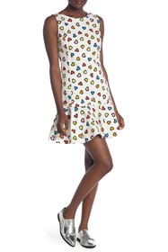 LOVE Moschino Abito All Over Cuori Dress