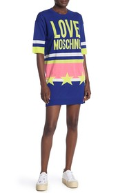 LOVE Moschino Vestito Stelle Star Logo Short Dress