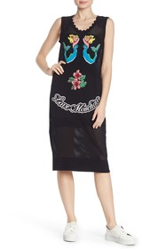 LOVE Moschino Sleeveless Print Knit Dress