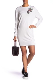 LOVE Moschino Vestito Roxe Pixel Sweater Dress