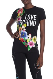 LOVE Moschino Donnine Ghirlanda Flower T-Shirt