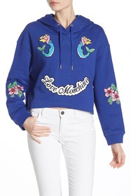 LOVE Moschino Embroidered Hooded Pullover
