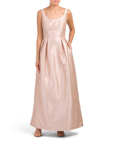 ALFRED SUNG Scoop Neck Long Gown
