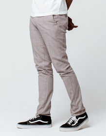RSQ Seattle Plaid Mens Skinny Tapered Chino Pants_