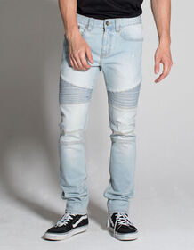 RSQ London Moto Mens Ripped Skinny Jeans_