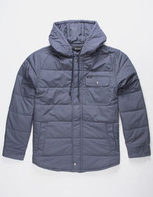 BRIXTON Cass Blue Mens Hooded Jacket_