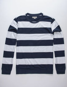 CHARLES AND A HALF Stripe Navy Mens Rugby Shirt_