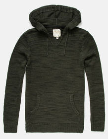 BIRCH BLACK Pancho Olive Mens Hooded Sweater_