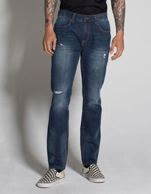 RSQ Seattle Mens Skinny Tapered Stretch Ripped Jea