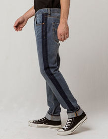 RSQ Seattle Side Contrast Mens Skinny Tapered Jean