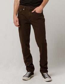RSQ London Brown Mens Skinny Stretch Jeans_
