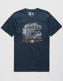 HIPPYTREE Roadtrip Navy Mens T-Shirt_