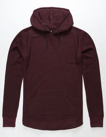 RSQ Toronto Burgundy Mens Hooded Thermal_