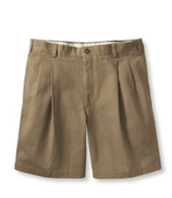 LL Bean Wrinkle-Free Double L Chino Shorts, Pleate