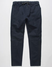 EAST POINTE Moto Knee Twill Mens Jogger Pants_