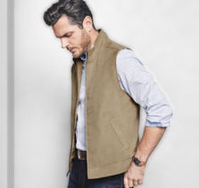 Johnston Murphy Perforated Microsuede Vest
