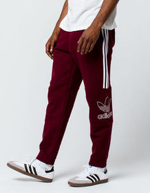 ADIDAS Outline Maroon Mens Sweatpants_