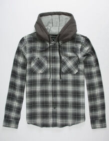 VALOR Furthest Mens Hooded Flannel Shirt_