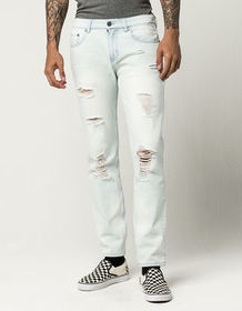 RSQ Seattle Mens Skinny Tapered Ripped Jeans_
