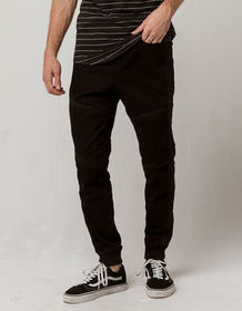 EAST POINTE Marshall Moto Mens Denim Jogger Pants_