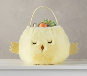 Pottery Barn Yellow Chick Puffy Easter Basket