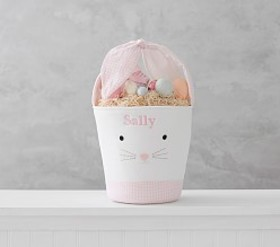 Pottery Barn Pink Tie Ear Bunny Bucket