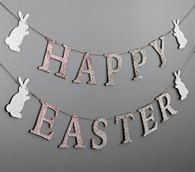 Pottery Barn Happy Easter Glitter Garland