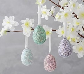 Pottery Barn Embellished Eggs