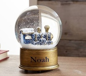 Pottery Barn Train Snowglobe