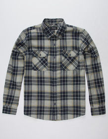 BRIXTON Bowery Navy Mens Flannel Shirt_