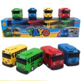 Hot 4 pcs Cars Toy The Little Bus TAYO Friends Min