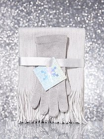 2-Piece Stripe Scarf & Gloves Gift Set - New York