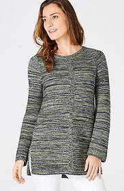 Mixed-Textures Sweater Tunic