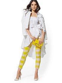 Whitney High-Waist Pull-On Ankle Pant - Chartreuse