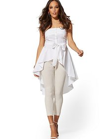 Whitney High-Waist Pull-On Ankle Pant - Tan - New