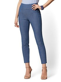 Whitney High-Waist Pull-On Ankle Pant - Blue - New