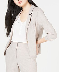 BCX Juniors' Ruched-Sleeve Blazer
