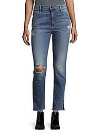 Joe's Jeans Frayed Five-Pocket Jeans REILLY