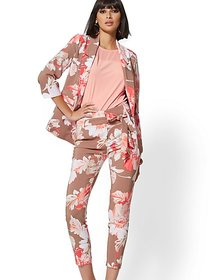 Tan Floral Madie Soft Blazer - 7th Avenue - New Yo