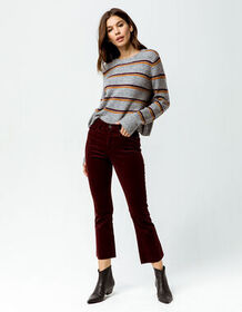 RSQ Sydney Crop Womens Flare Corduroy Pants_