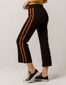 SKY AND SPARROW Stripe Flared Womens Crop Pants_