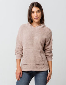 FULL TILT Essentials Chenille Taupe Womens Hooded