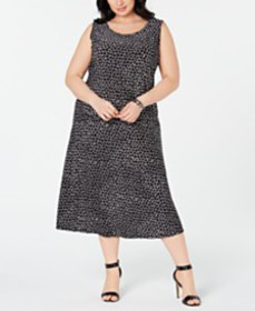 JM Collection Plus Size Jacquard Sleeveless Top &