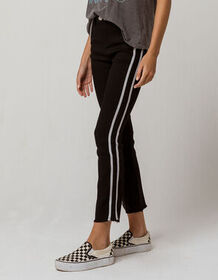 SKY AND SPARROW Side Stripe Crop Womens Flare Jean
