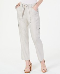 I.N.C. Cargo Paper Bag Ankle Pants, Created for Ma