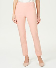 JM Collection Studded Tummy Control Pull-On Pants,